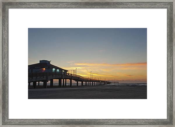 Ocean Pier Framed Print