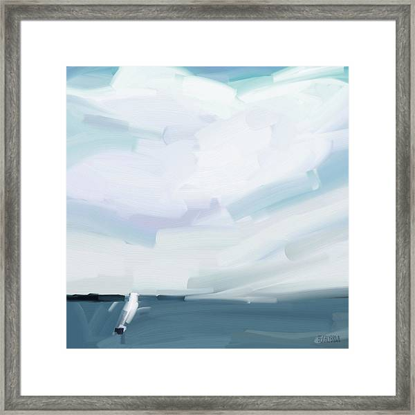 Ocean View From Fire Island Framed Print