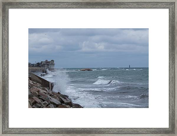 Ocean Waves At Minot Beach Framed Print