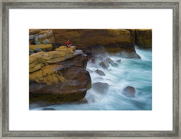 Oceanic Meditation Framed Print