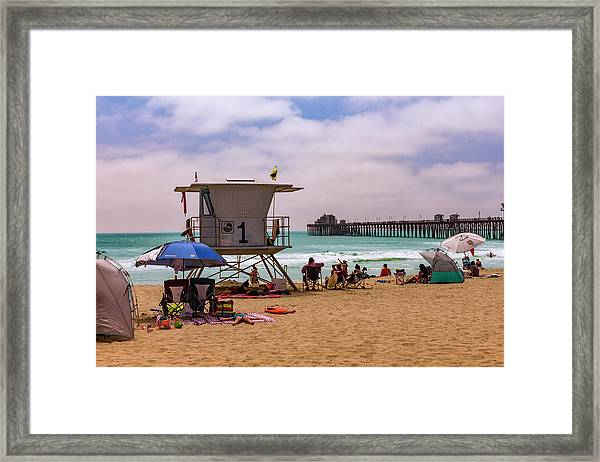 Oceanside Lifeguard Framed Print
