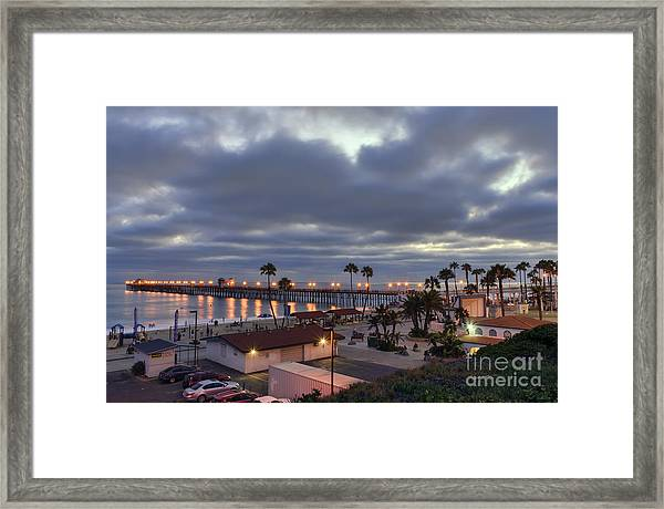 Oceanside Pier At Dusk Framed Print