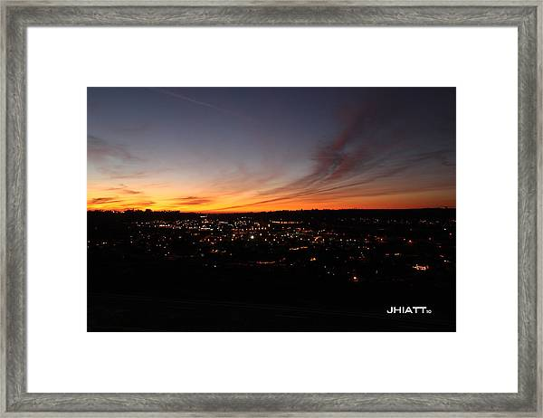 Oceanside Valley Framed Print