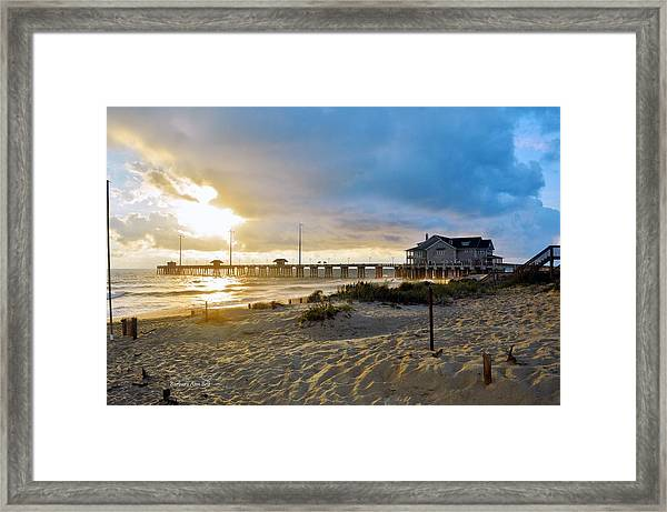 October 3 2016 Obx Sunrise Framed Print