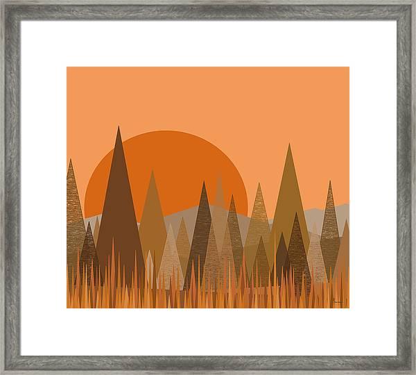 October Frost Framed Print