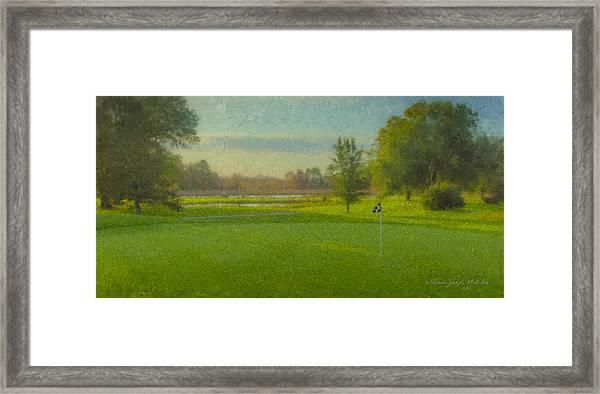 October Morning Golf Framed Print