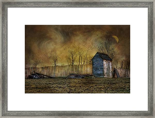 October Outhouse Framed Print