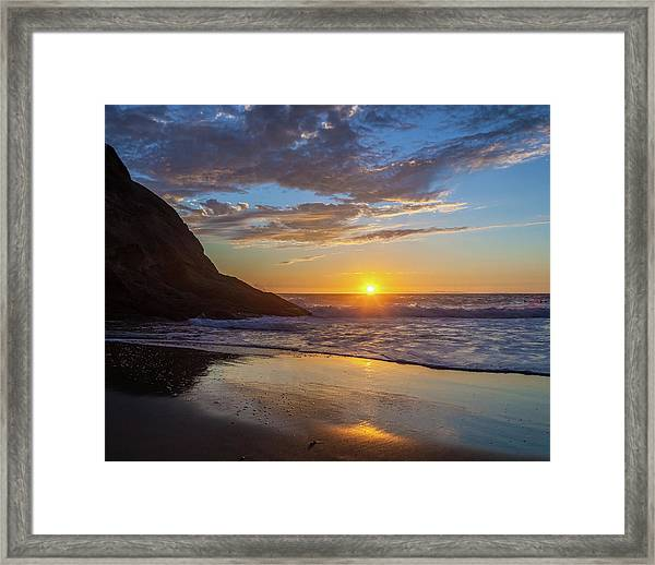 October Sunset Strands Beach Framed Print