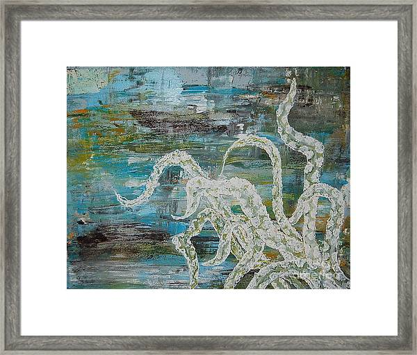 Octopus Of The Deep Framed Print