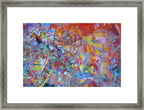 Octopus Playground Framed Print