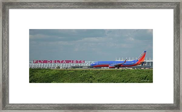 Odd Couple Delta Airlines Southwest Airlines Art Framed Print