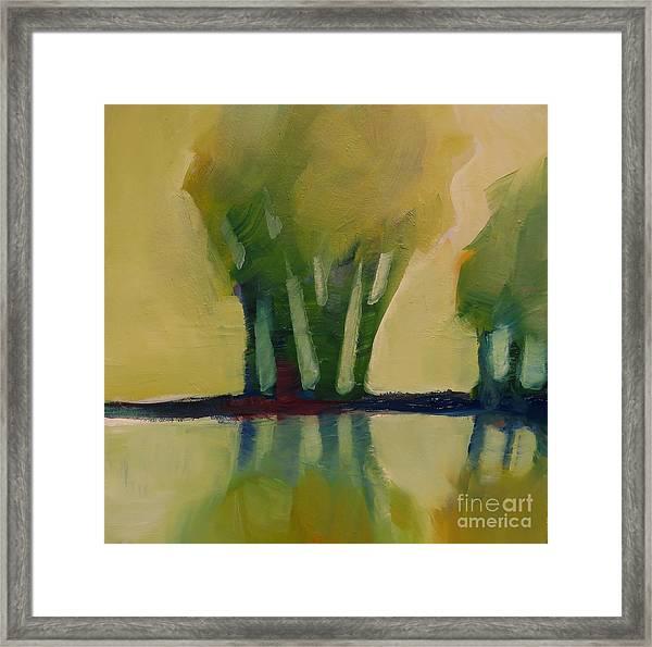 Odd Little Trees Framed Print