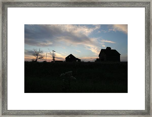 Framed Print featuring the photograph Odell Dusk by Dylan Punke