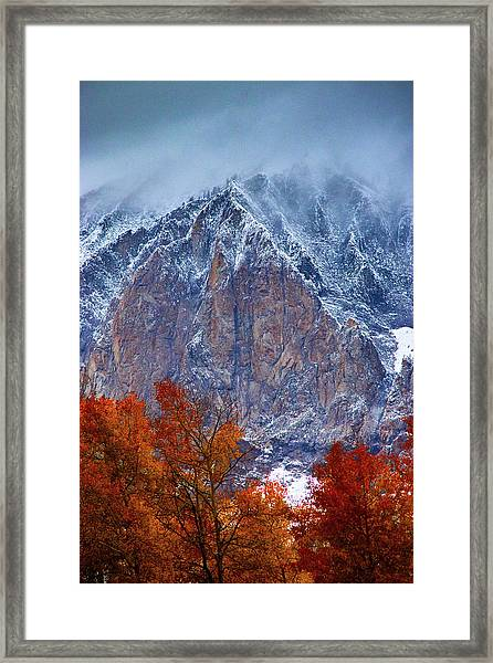 Of Fire And Ice Framed Print