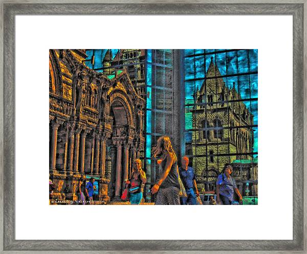 Of Light And Mirrors Framed Print