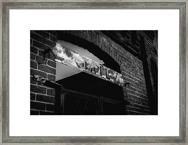 Off To Jail Framed Print