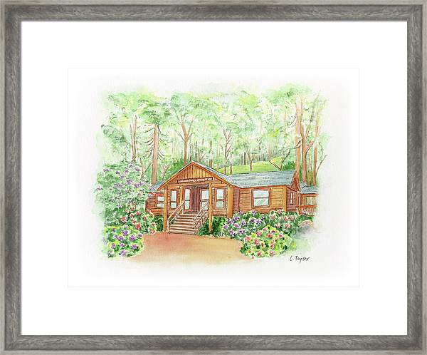 Office In The Park Framed Print