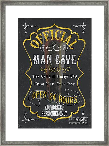 Official Man Cave Framed Print