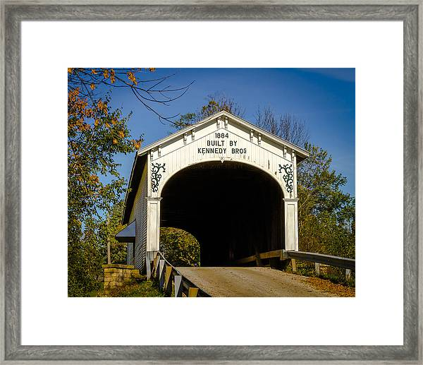 Offutt's Ford Covered Bridge Framed Print