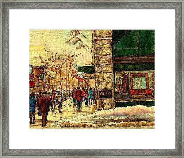Ogilvys Department Store Downtown Montreal Framed Print