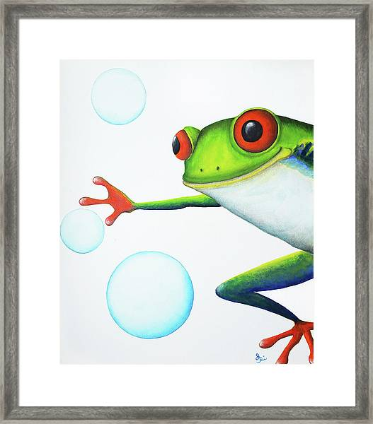 Oh Bubbles Framed Print