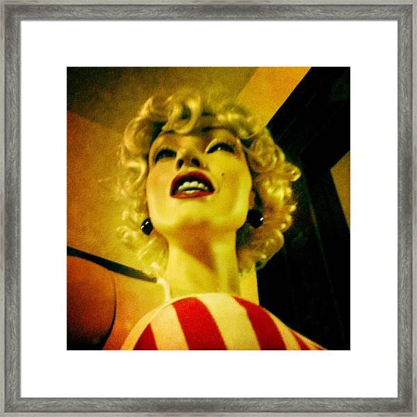 Oh Marilyn  Framed Print