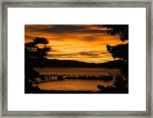Oh Tahoe Glow Framed Print