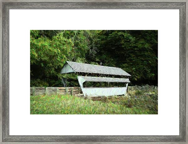 Ohio Covered Bridge Framed Print