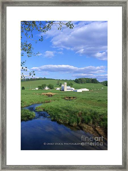 3d203 Ohio Farm Photo Framed Print