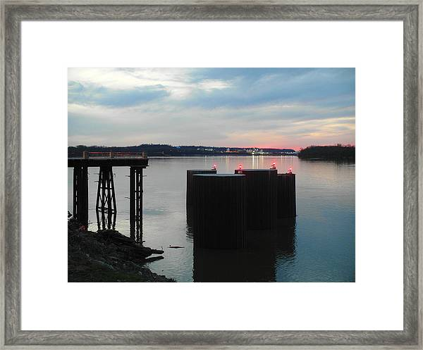 Ohio River View Framed Print