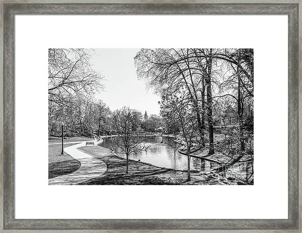 Ohio State University Mirror Lake Framed Print