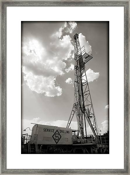 Oil Derrick II Framed Print