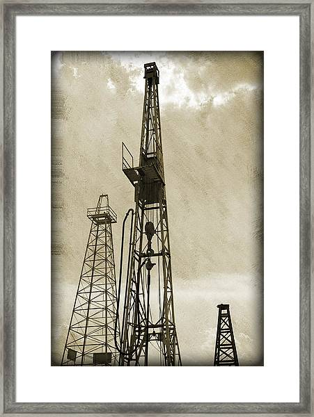 Oil Derrick Vi Framed Print