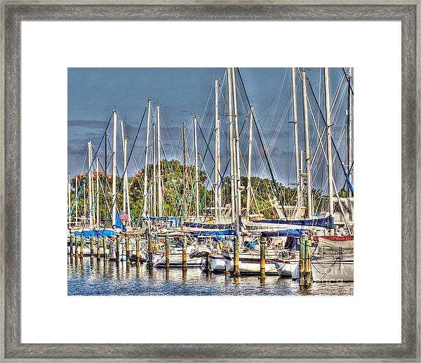 Oil Painting Marina Framed Print