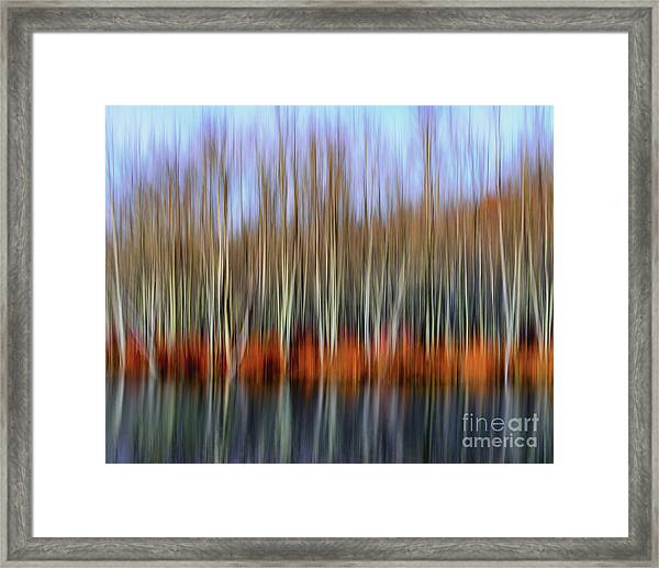 Oil Painting Reflection Framed Print