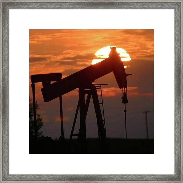 Oil Pump Jack 7 Framed Print by Jack Dagley
