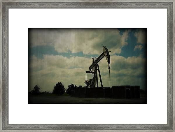 Oil Pumpjack Holga Framed Print