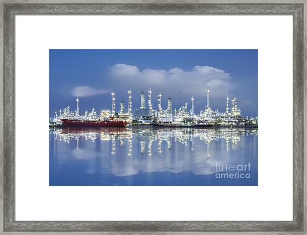 Oil Refinery Industry Plant Framed Print