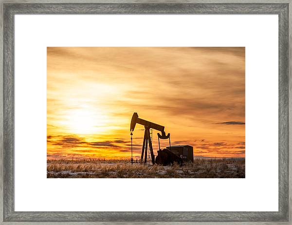 Oil Stained Sky Framed Print