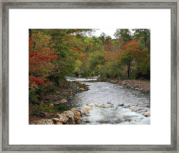 Ok Fishing Framed Print