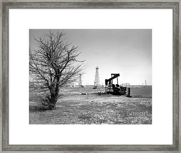 Oklahoma Oil Field Framed Print