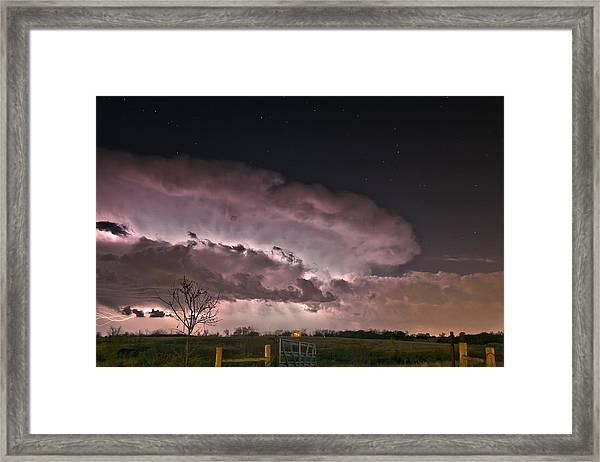 Oklahoma Sky Of Fire Framed Print