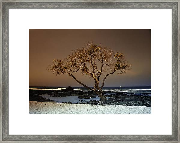 Old A Beach Framed Print