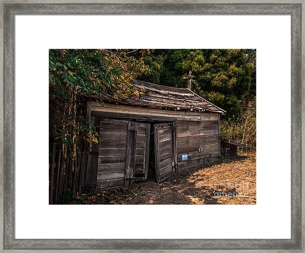 Old Abandoned Shed Sonoma County Framed Print