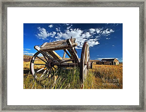 Old Abandoned Wagon, Bodie Ghost Town, California Framed Print