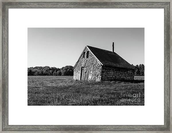 Old Abandoned Wooden Barn Framed Print