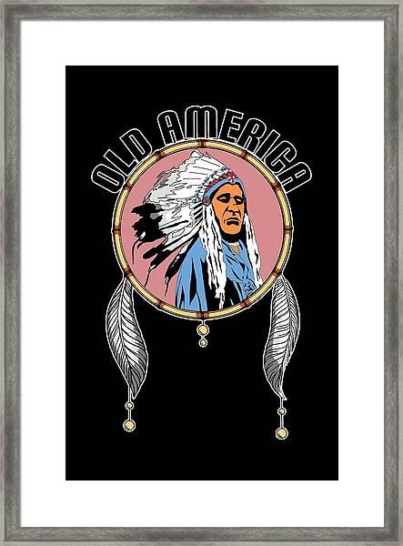Old Amercia Framed Print
