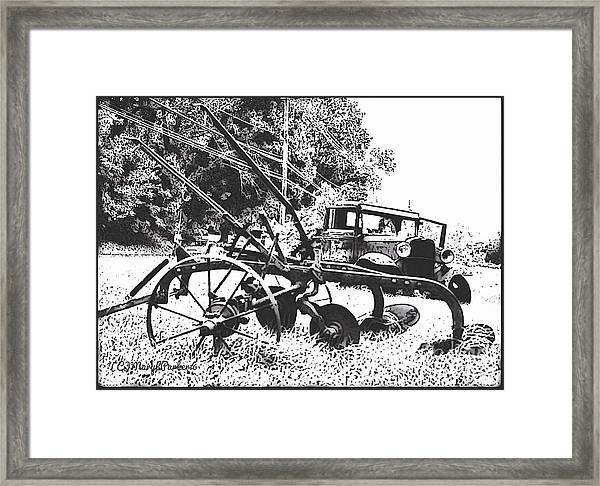Old And Rusty In Black White Framed Print