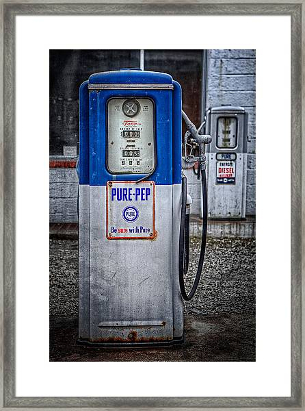 Old And Rusty  Pump  Framed Print