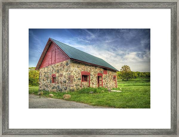 Old Barn At Dusk Framed Print